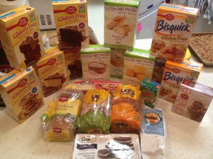 Box of Gluten Free products