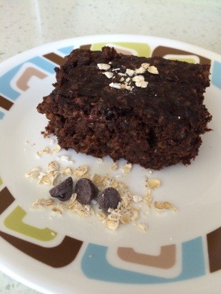 Chocolate chip PB Oat Zucchini brownies